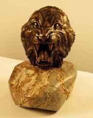 """29x23x21 cm - Bronz - 2013 - """"Tiger Head"""""""
