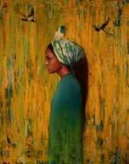 Azat Yeman<br />'Melekûtî kuşlarım', 100x80 cm, TÜAYB, 2016