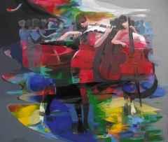 Hakan Eraslan - 'Açıkhava orkestrası / Open-air Orchestra', 126x150 cm, Tüab, 2016