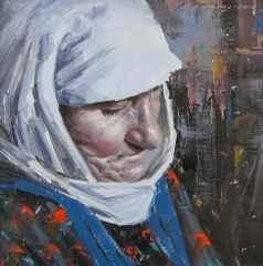 Fatih Karakaş - 'Bozüyük'lü Yaşlı Kadın / Old woman from Bozüyük', 25x25 cm, Tüyb, 2016