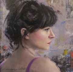 Fatih Karakaş - 'Profil portre-II / Profile portrait-II', 25x25 cm, Tüyb, 2016