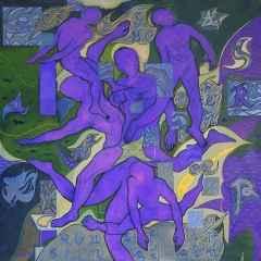 Necmettin Özlü - İlişkiler/Relationships, 70x70 cm, Tuvale akrilik boya/Acrylic on canvas, 2017