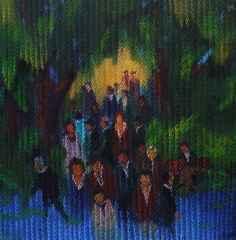 Ahmet Yeşil - Bekleyiş/Waiting, 70x70 cm, Tuvale yağlı boya/Oil on canvas, 2016