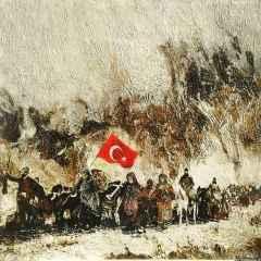 Hasan Çağlayan - Kuva-yi Milliye - VIII, 70x70 cm, Tuvale karışık teknik/Mixed on canvas, 2017