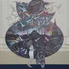 Engin Korkmaz - İstanbul'a bakış/View of Istanbul, 70x70 cm, Tuvale akrilik boya/Acrylic on canvas, 2017