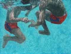 Zuhal Baysar<br />'İki Çocuk' - 90x120 cm - TÜYB - 2014