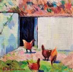 Komşunun Tavukları, 25x25 cm, TÜYB, 2018