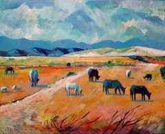 Balabanda Sığırlar, 81x100 cm, TÜYB, 2018