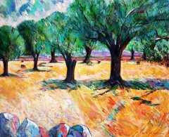 Gün Doğduğunda Zeytin Ağaçları, 81x100 cm, TÜYB, 2018