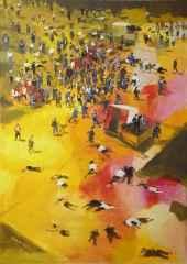 """140x100 cm - TÜAB - 2012 - """"Sarı Sayfalar- Bir Ölü Lazım(Jorge Semprun)"""""""