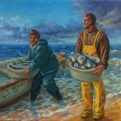 'Balıkçılar', 25x25 cm, TÜYB, 2017