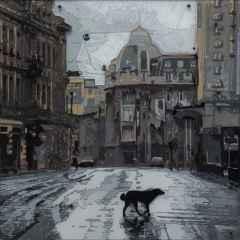 'Köpek Gibi Yalnız', 50x50 cm, Poliplastik, 2017