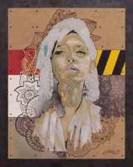 Emre Lüle<br />'Judith', 100x80 cm, Karışık Teknik, 2016