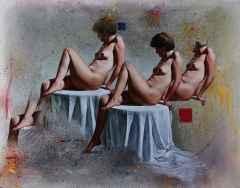 Hasan Saygın - 'Üç Güzeller', 146x114 cm, TÜYB, 2002
