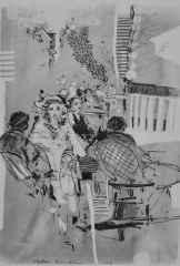 40x32 cm - Kağıt Üzeri Desenler - 2014 - Cafe-III