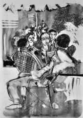 40x32 cm - Kağıt Üzeri Desenler - 2014 - Cafe-IX