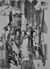 40x32 cm - Kağıt Üzeri Desenler - 2014 - Cafe-XIV