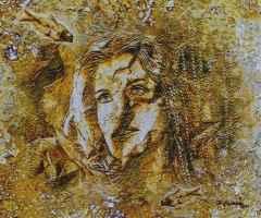 'Fosilleşmiş Bedenler' 50x60 cm, Yapay Kaya ÜKT