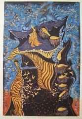 81x54 cm - Ağaç Baskı - 2011 - Şamanın Rüyası I