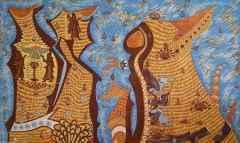 85x140 cm - Ağaç Baskı - 2010 - Söylenceler, Önermeler, Urartu