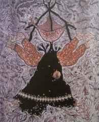105x85 cm - Ağaç Baskı - 2003 - Siyah Kalem'in Demonları