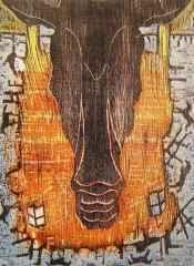 93x71 cm - Ağaç Baskı - 2002 - Atlar Serisi