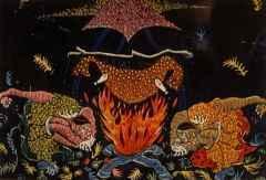 73.5x95 cm - Ağaç Baskı - 2002 - Gece Büyücüleri