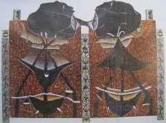 145x 172 cm - Ağaç Baskı - 2001 - İsimsiz