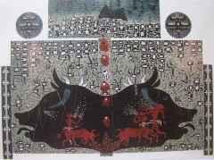 145x172 cm - Ağaç Baskı - 2001 - Çatalhöyük