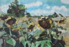 'Ayçiçek Tarlası'<br />28x41 cm, KÜYB, 2012