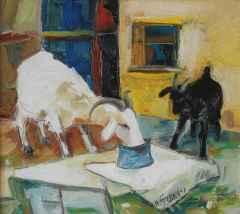 'Beyaz Ana Siyah Oğul II'<br />40x45 cm, TÜYB, 2007