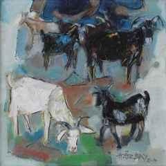 'Keçiler I'<br />40x40 cm, TÜYB, 2010