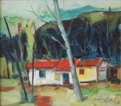 'Kırmızı Damlı Ev'<br />40x45 cm, TÜYB, 2008