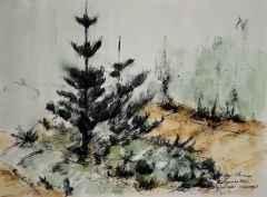 21x29 cm, Kağıt Üzeri Suluboya