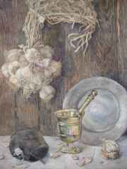 'Garlic  47x68 cm, watercolour, 2015
