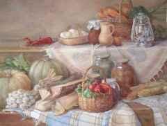 'Prepering for winter', 54x74 cm, watercolour, 2014