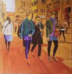 """150x150 cm - TÜAB - 2013 - """"İstiklal Caddesi Kızları"""""""