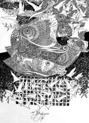 Engin Korkmaz<br />42x30 cm, Desen, 2015