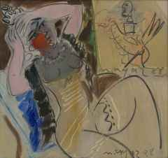 Mustafa Ayaz <br/> 35x35 cm, DÜYB, 1988