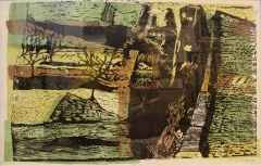 Zahit Büyükişleyen <br/>43x69 cm, Linol Baskı, 1970