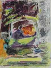 Zeki Faik İzer <br/>28x22 cm, Pastel, 1962