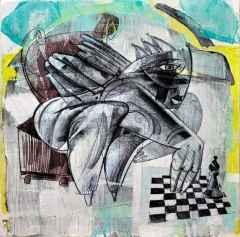 Erhan Lanpir - Bize Bir Fil Daha - 20x20 cm