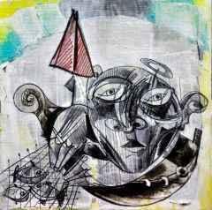 Erhan Lanpir - Denizkızı Girmiş Düşünceme - 20x20 cm