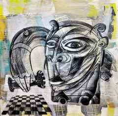 Erhan Lanpir - Kale - 20x20 cm