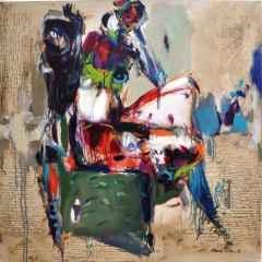 Nurettin Akkaya - Yalnızlık/Loneliness, 90x90 cm, Tuvale yağlı boya, 2017