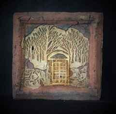 'Ağaç Gölgeleri', 32x32x4 cm, 1200° - Seramik Ajur Tekniği