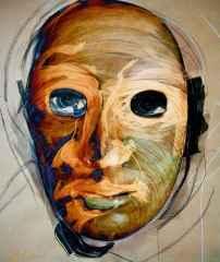 'Maske'<br />60x50 cm, Hahnemühle KÜKT, 2015