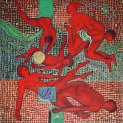 Yılanlarla Başbaşa - 70x70 cm, TÜAB