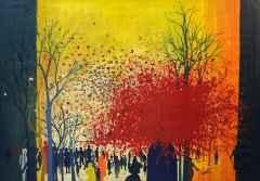 70x100 cm - KÜYB - 1986 - Sinekler ve kan çiçekleri