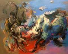 'Mahşerin Dört Atlısı'<br />114x146 cm, TÜYB, 2015